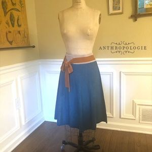 Girls from Savoy-Anthropologie Teal Knit Skirt